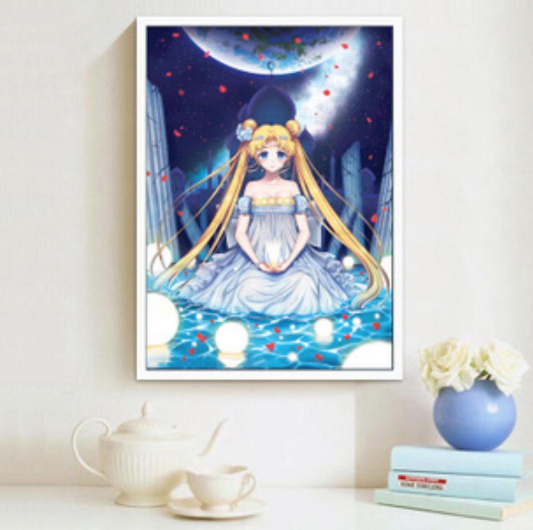 Qing Yun WM3208-01 Princess Serenity Rose Petals DIY Diamond Dot