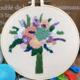 Su Zi Purple Bouquet 20cm Embroidery