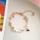Bao Yuan White Cat with Sakura Bracelet