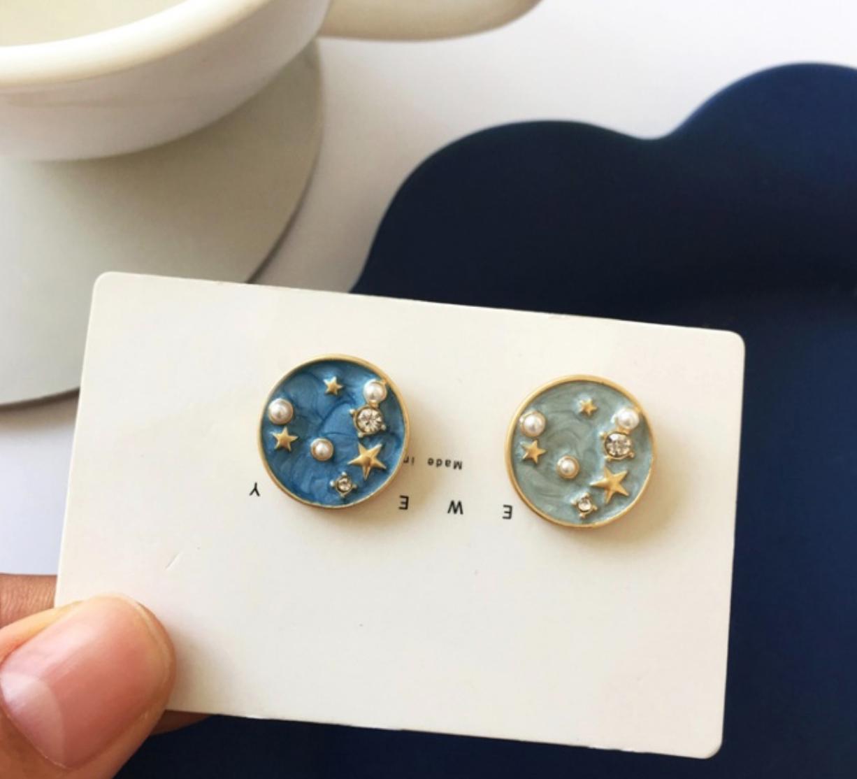 Bao Yuan Blue Stars Earring