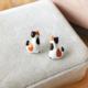Bao Yuan Orange Tabby Cat Earring