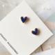 Bao Yuan Marble Blue Heart Earring