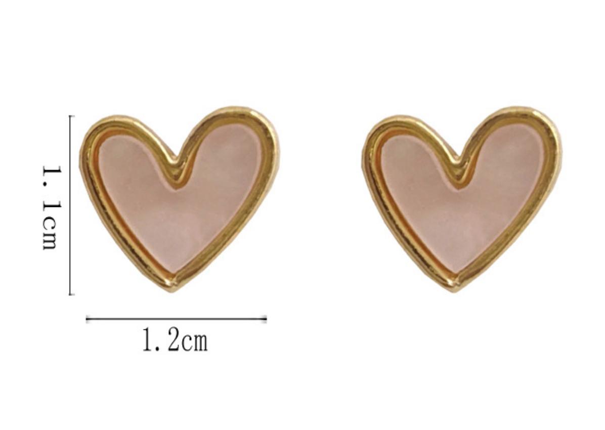 Bao Yuan Pink Heart Earring