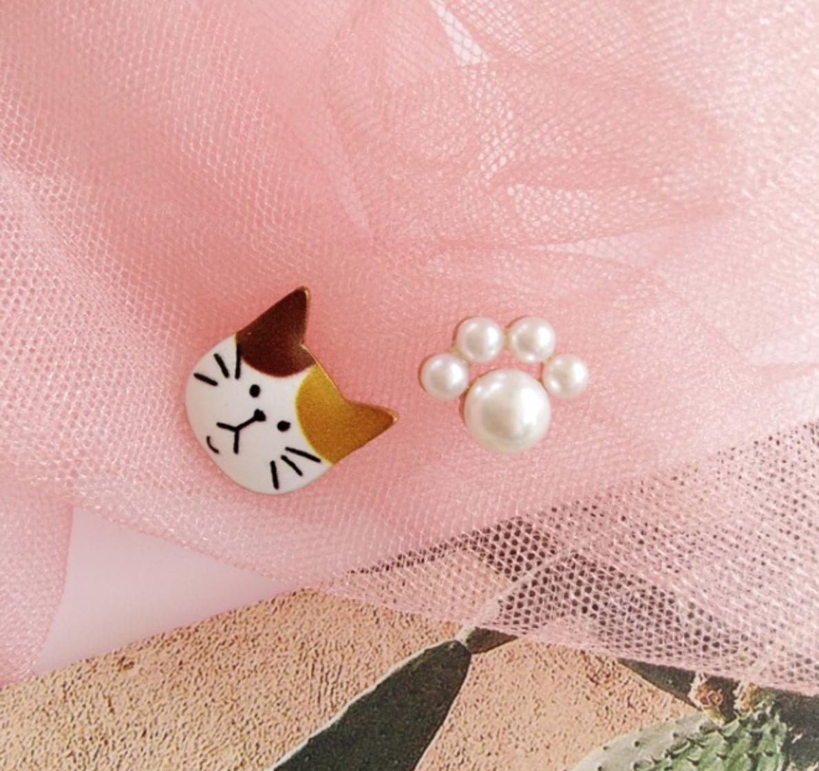 Bao Yuan Orange Cay Pearl Paw Earring