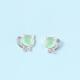 Dao Can Green Stone Cat Earring