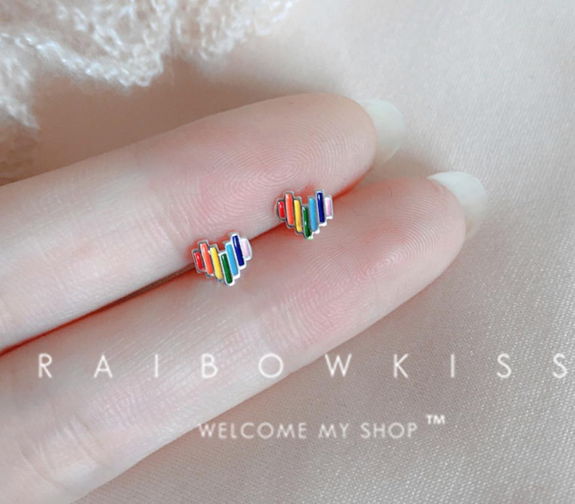 Dao Can Rainbow Heart Earring