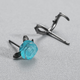 Dao Can Blue Rose and Thorn Earring