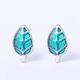 Dao Can Blue Leaf Earring