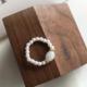 Bao Yuan Pearl and White Stone Ring