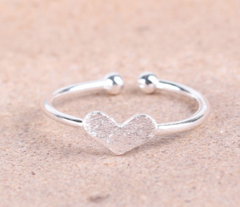 Dao Can Silver Heart Ring
