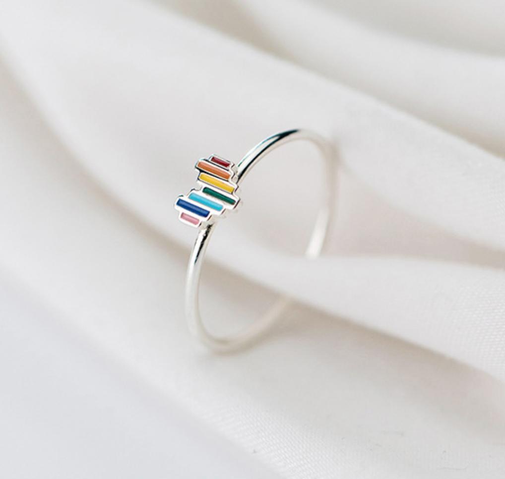 Dao Can Rainbow Heart Ring