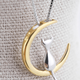 Dao Can Cat on Moon Gold Necklace
