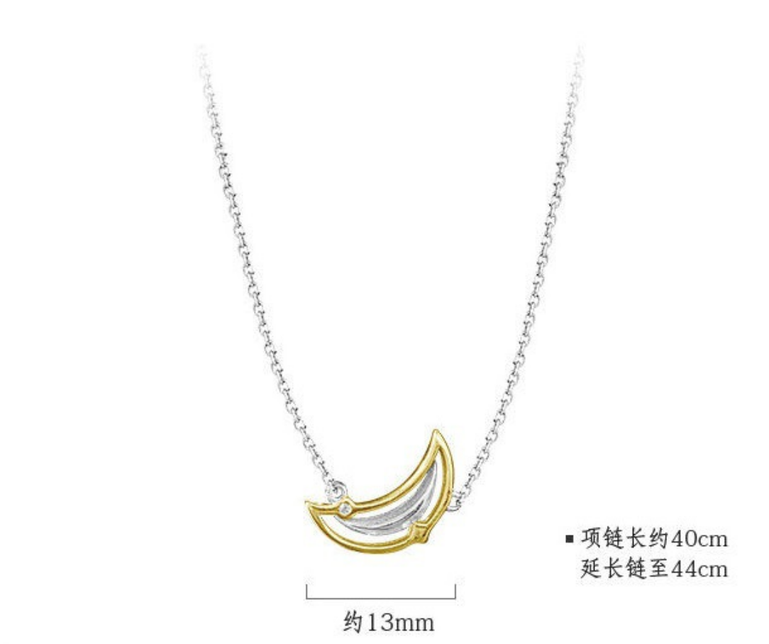 Dao Can Moon Crescent Necklace