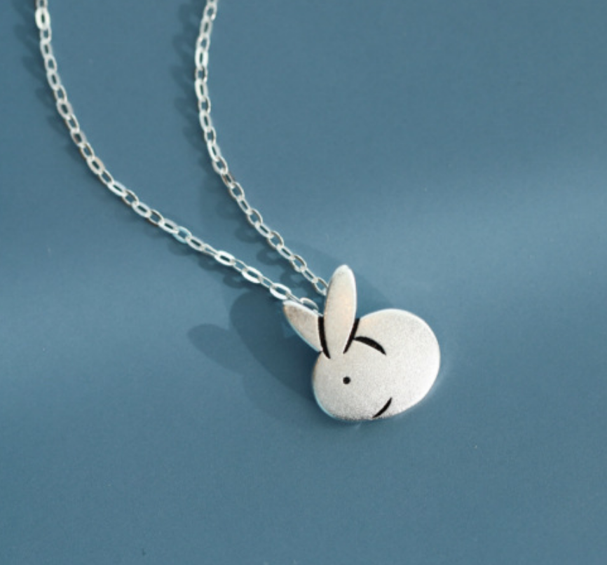 Dao Can Silver Rabbit Necklace