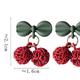 Bao Yuan Squiggly Cherry Earring