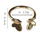 Bao Yuan Gold Butterfly Ring