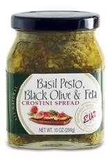 Elki Elki Basil Pesto Black Olive Feta Crostini Spread