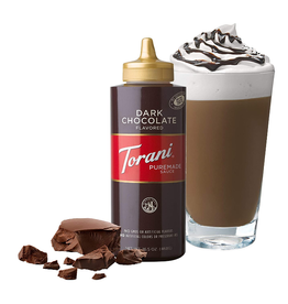 Coffee Masters Torani Dark Chocolate Sauce, 16.5 oz
