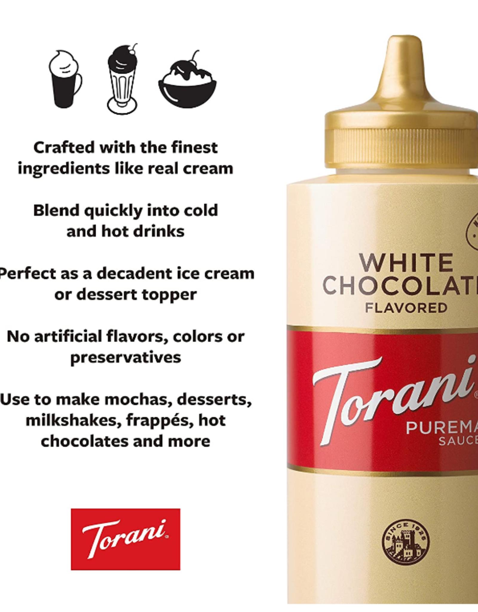 Coffee Masters Torani White Chocolate Sauce, 16.5 oz
