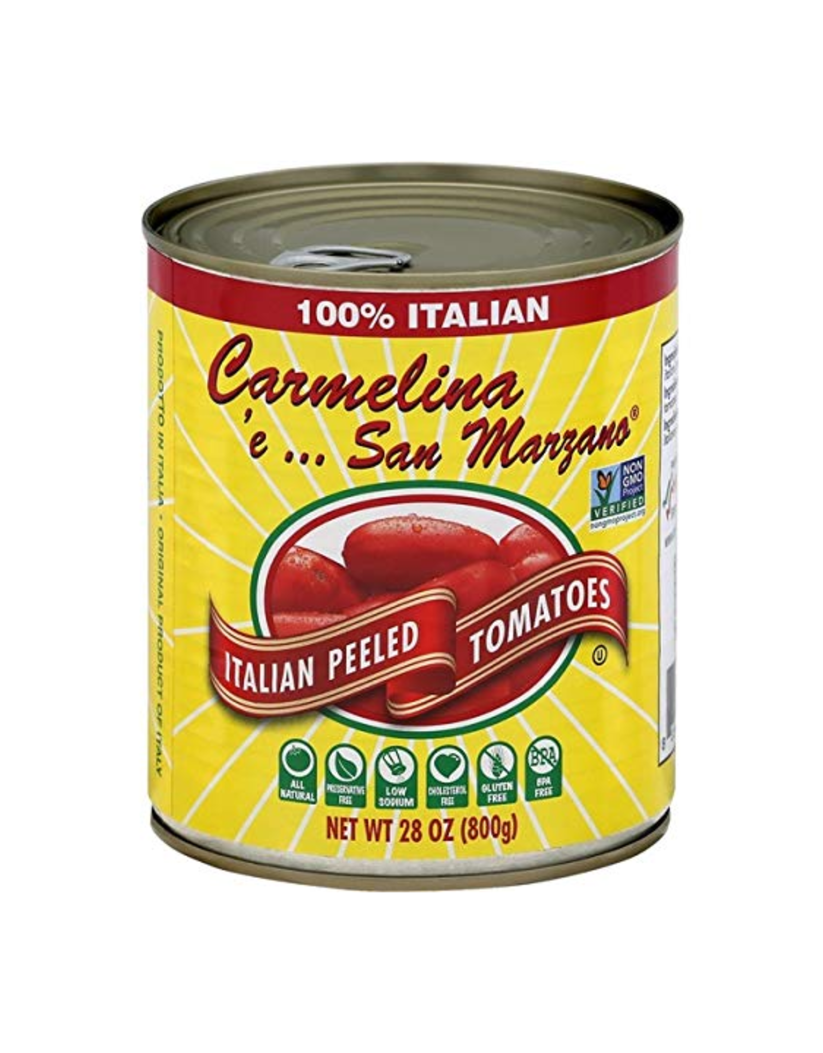 European Imports Carmelina Whole Peeled Tomatoes in Puree