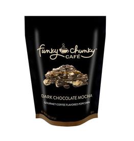 Funky Chunky Cafe Dark Chocolate Mocha Popcorn, Large Bag