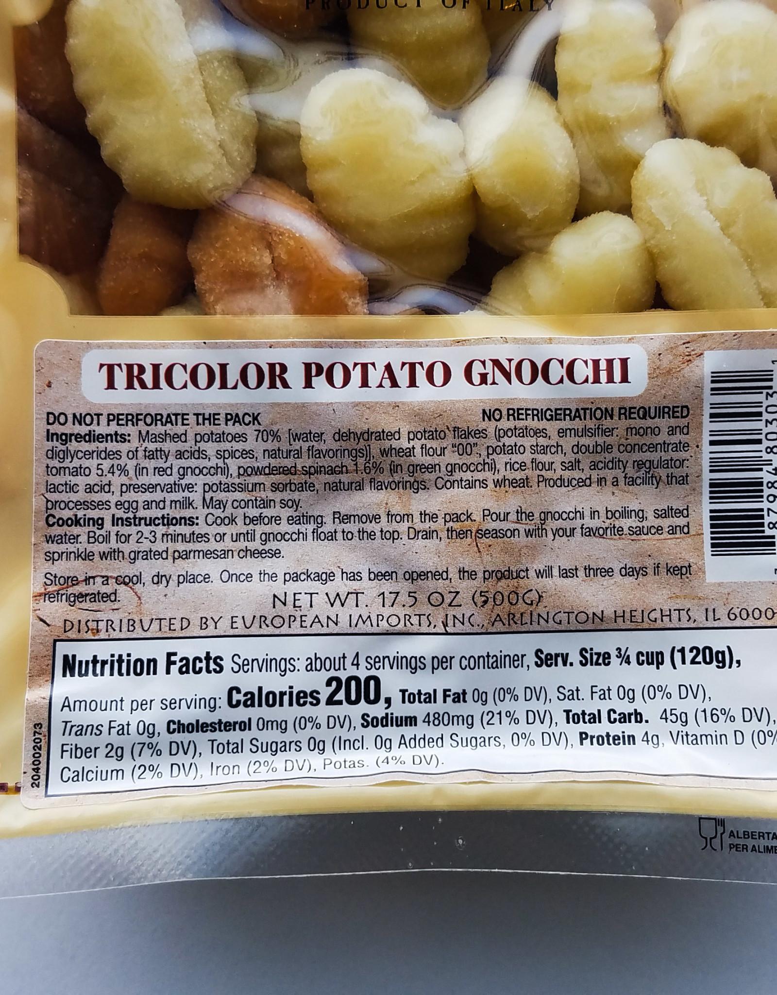 European Imports Cucina Viva Gnocchi, Tricolor