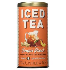 The Republic of Tea Ginger Peach Black Iced Tea, 8 Pouches