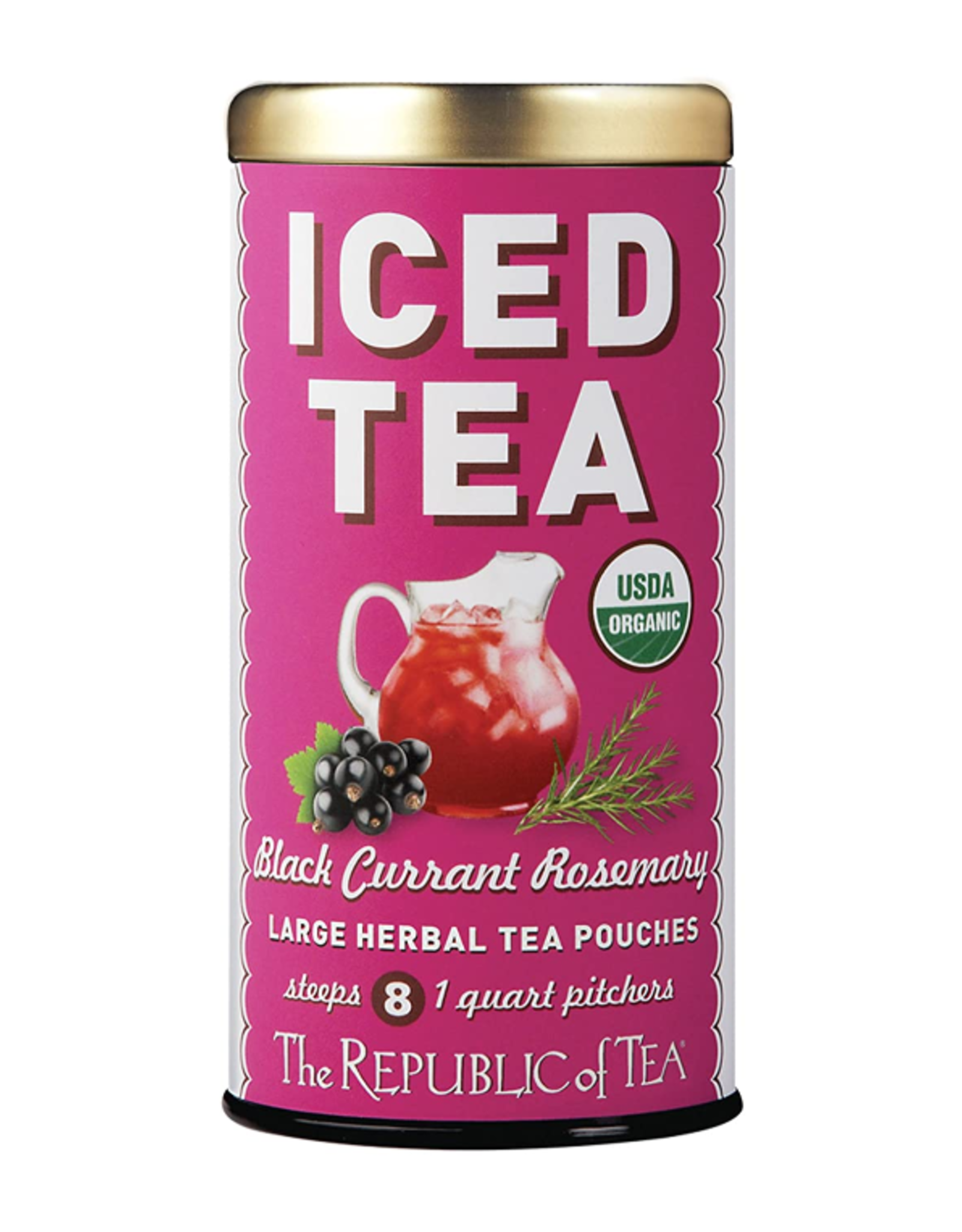 The Republic of Tea Black Currant Rosemary Iced Tea, 8 Pouches