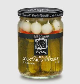 Sable & Rosenfeld Tipsy Cocktail Stirrers, Garlic & Dill