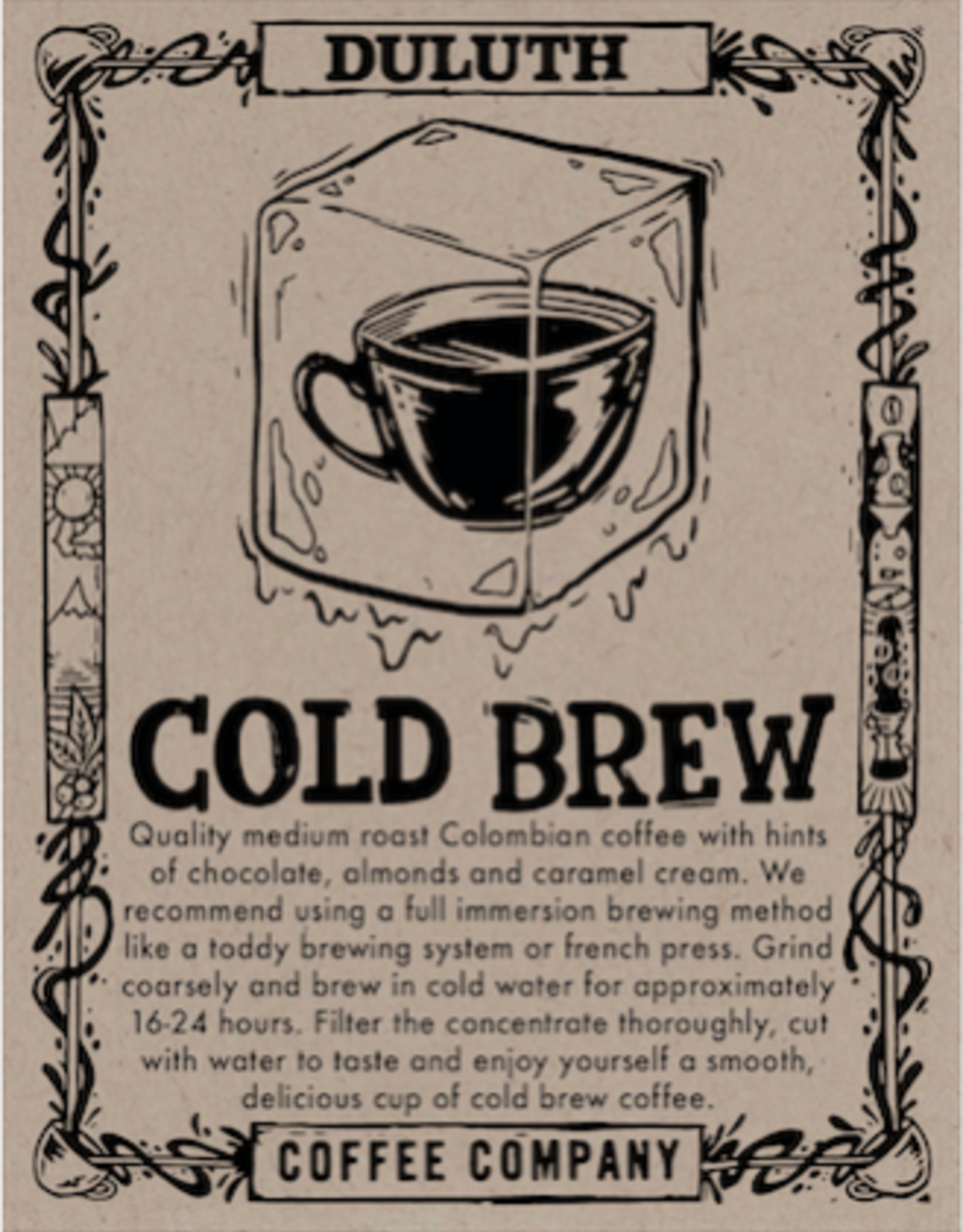Duluth Coffee Company Columbia Cold Brew, 1 lb whole bean
