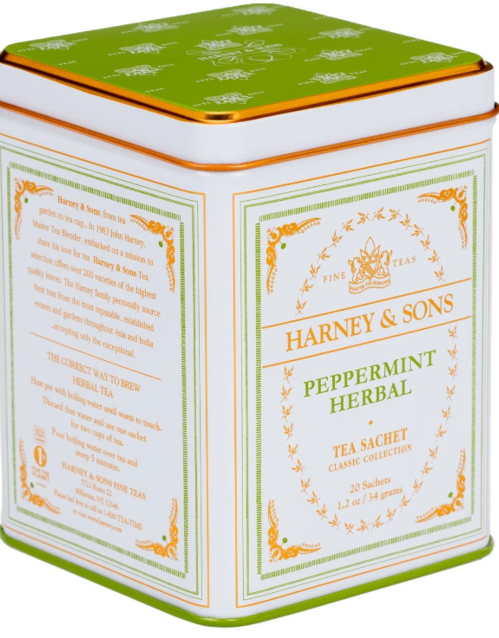 Harney & Sons Peppermint Herbal Tea, Classic Tin