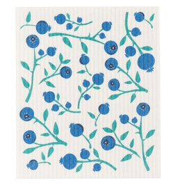 Now Designs S20 Swedish Dishcloth, Blueberries