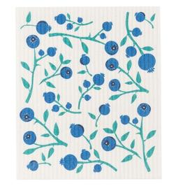 Now Designs Swedish Dishcloth, Blueberry Vine