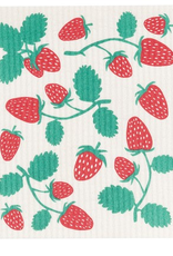Now Designs S20 Swedish Dishcloth, Strawberries