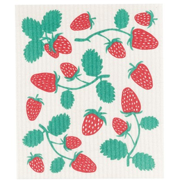 Now Designs Swedish Dishcloth, Strawberries