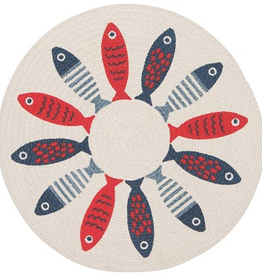 Now Designs Braided Placemat, Little Fish