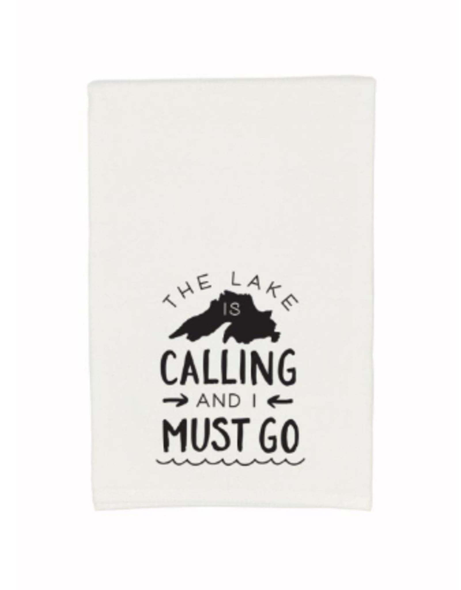 Gitch Gear Lake Superior Tea Towel, Calling