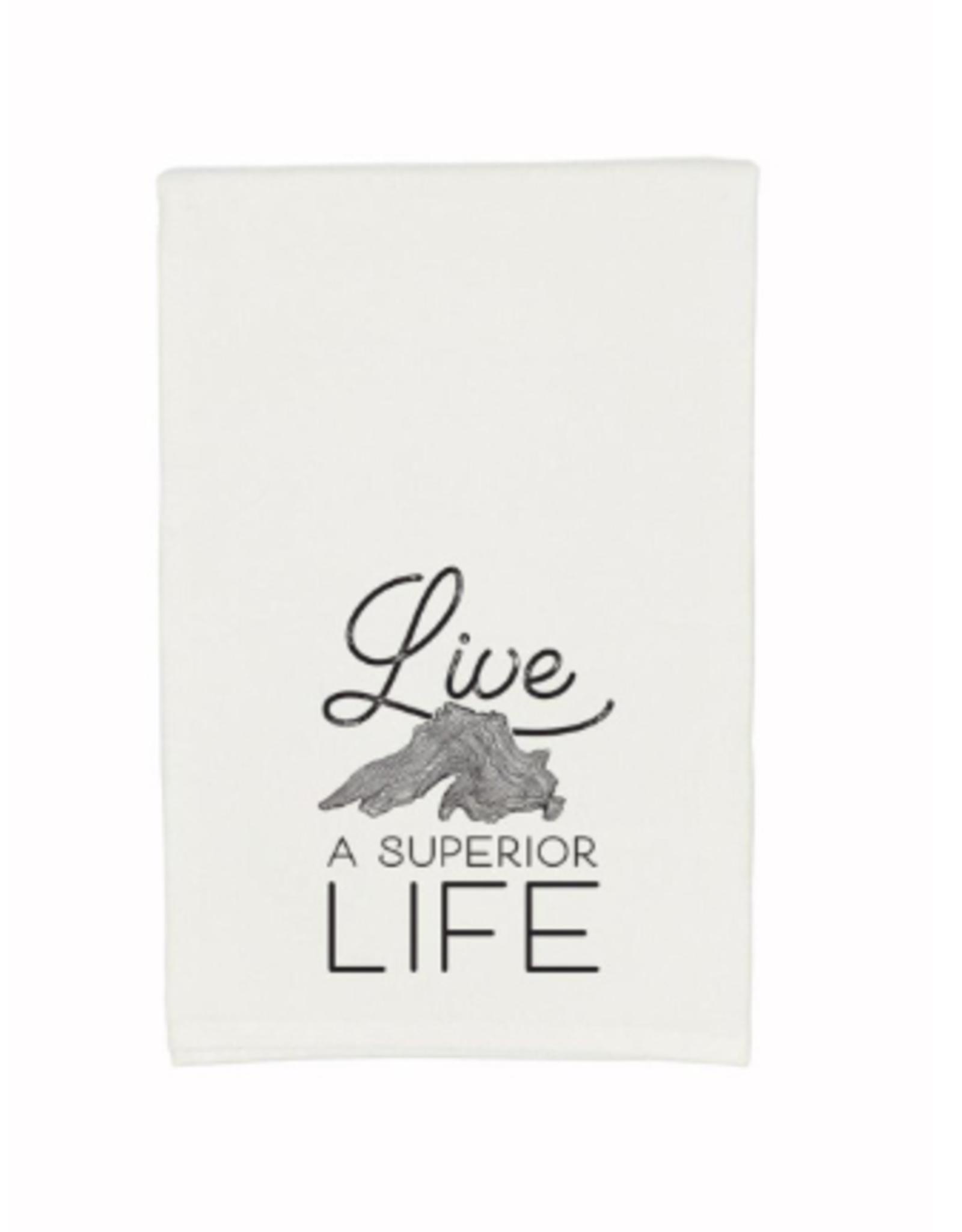 Gitch Gear Lake Superior Tea Towel, Live Superior