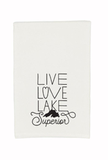Gitch Gear Lake Superior Tea Towel, Love Lake Superior