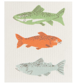 Now Designs S20 Swedish Dishcloth, Gone Fishin'