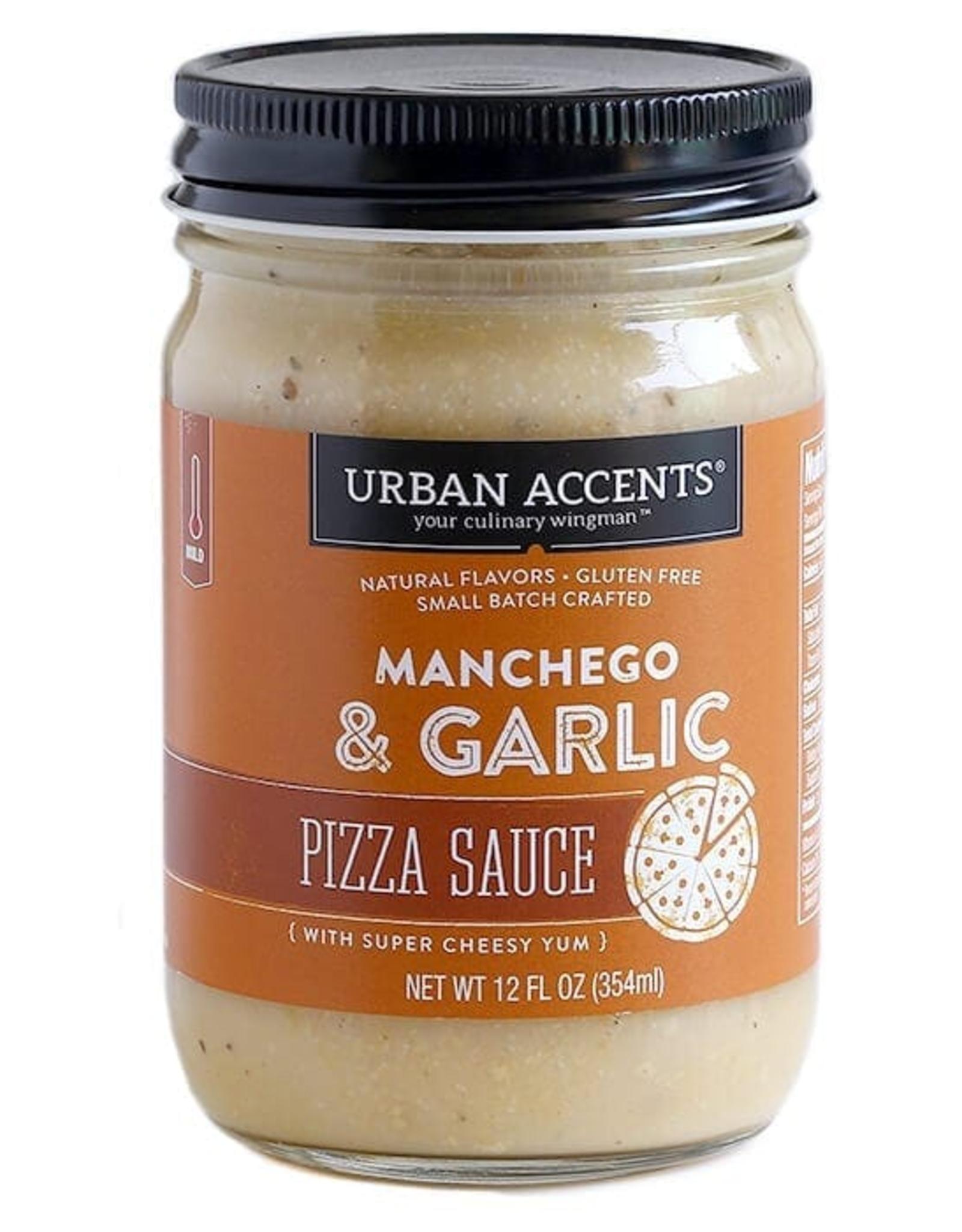 Urban Accents Pizza Sauce, Garlic Manchego
