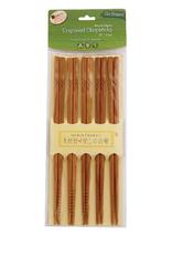 Harold Import Company Inc. Chopsticks, Engraved, set/5 pair