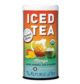 The Republic of Tea Mango Coconut Water Iced Tea, 8 Pouches