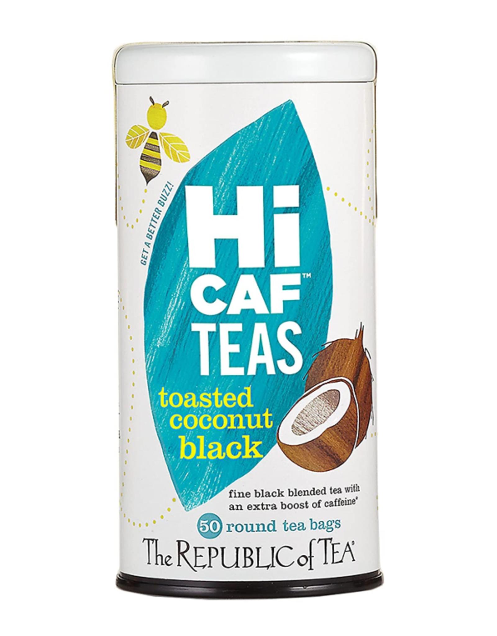 The Republic of Tea Hi Caf Toasted Coconut Black Tea, 50 Bag Tin