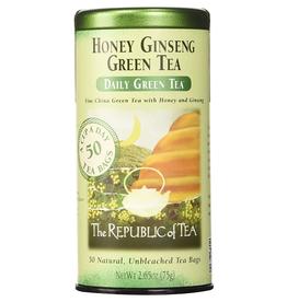 The Republic of Tea Honey Ginseng Green Tea, 50 Bag Tin