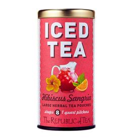 The Republic of Tea Sangria Hibiscus Iced Tea, 8 Pouches