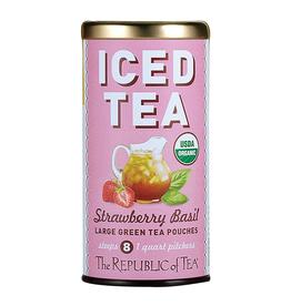 The Republic of Tea Strawberry Basil Iced Tea, 8 Pouches