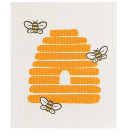 Now Designs S20 Swedish Dishcloth, Bees