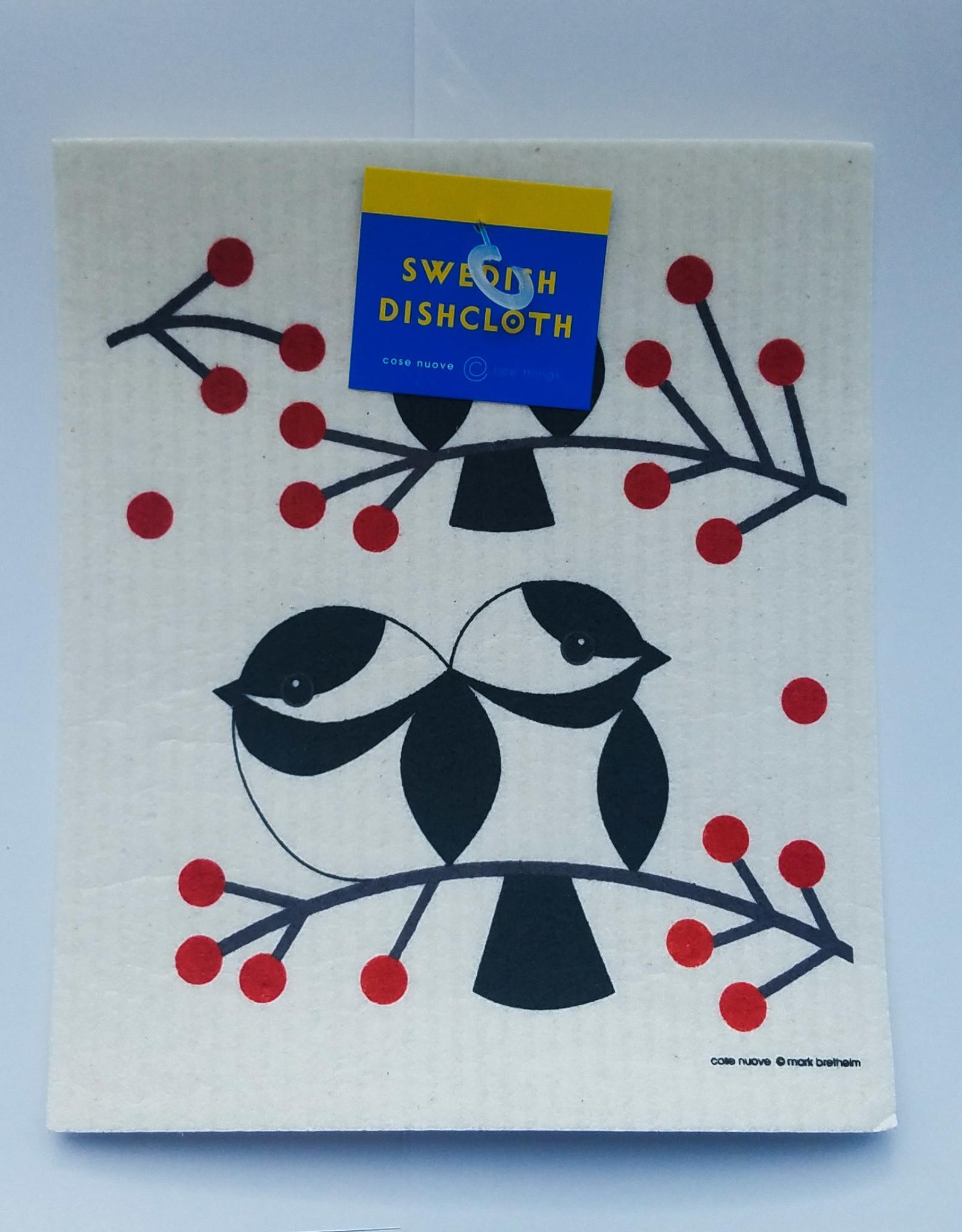 Cose Nuove Swedish Dishcloth, Chickadees, All Year