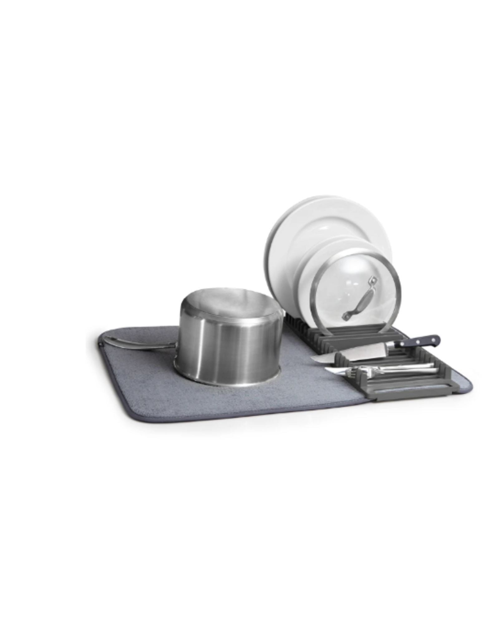 Umbra Udry Dish Drying Mat, Charcoal